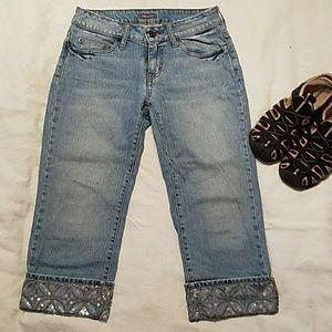 Apt 9  Bling Capri jeans 4P